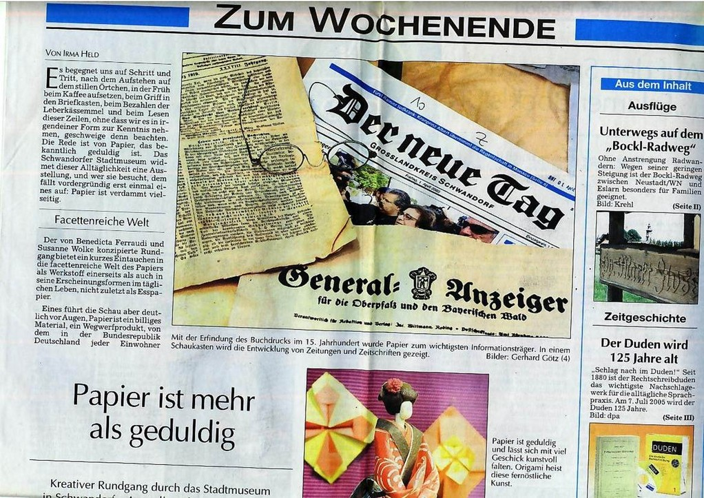 Der Neue Tag, 02/03.07.2005