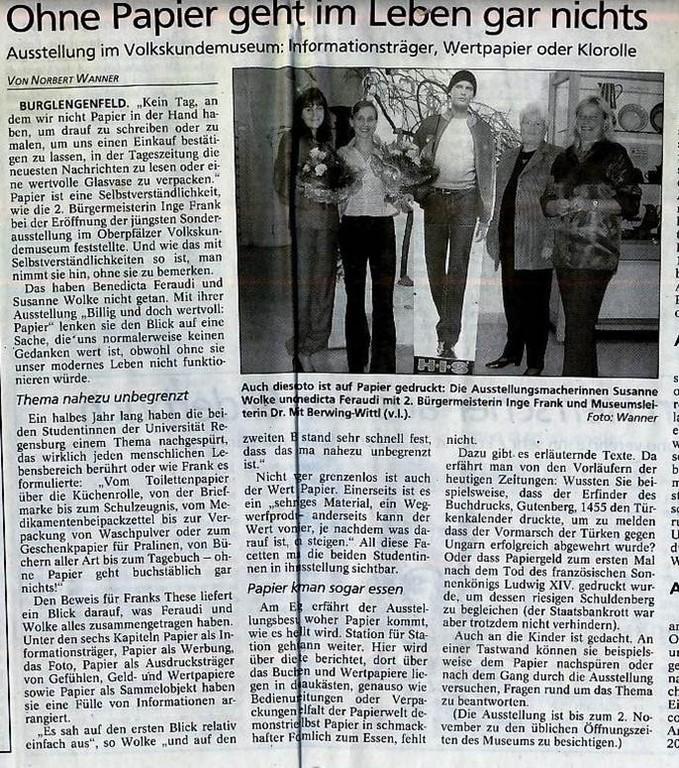 Mittelbayerische Zeitung, 09.09.2003