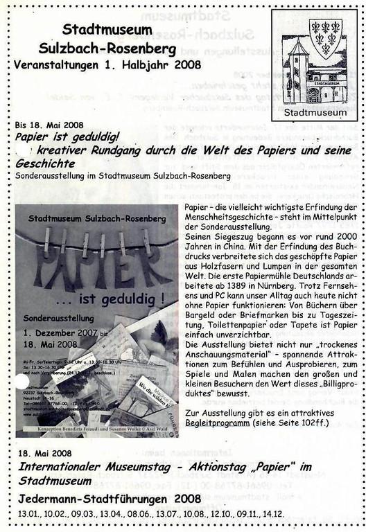 Sulzbach-Rosenberg, 1. Halbjahr 2008