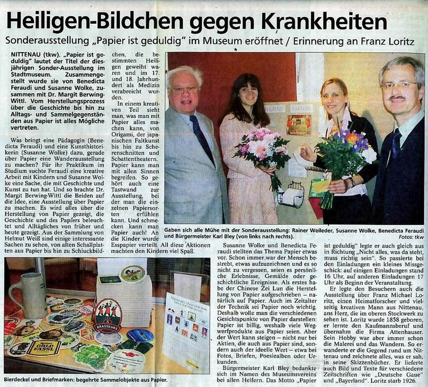 Mittelbayerische Zeitung, 02.05.2006
