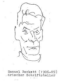 Samuel Becket (1906-89), irischer Schriftsteller