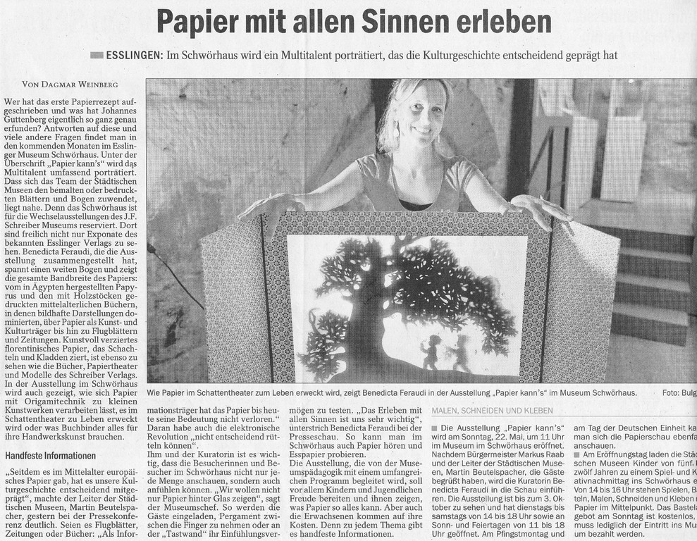 Eßlinger Zeitung, 20.05.2011