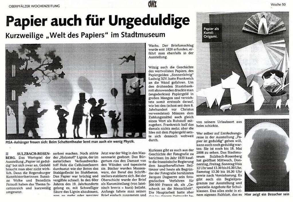 Oberpfälzer Wochenzeitung, 12/2007