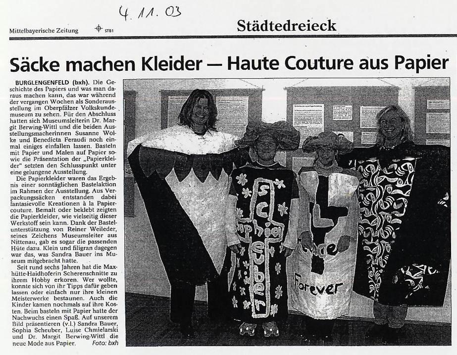 Mittelbayerische Zeitung, 04.11.2003