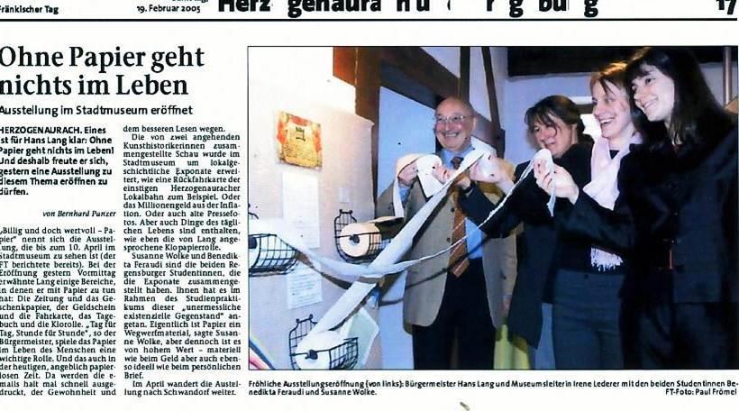 Fränkischer Tag, 19.02.2005