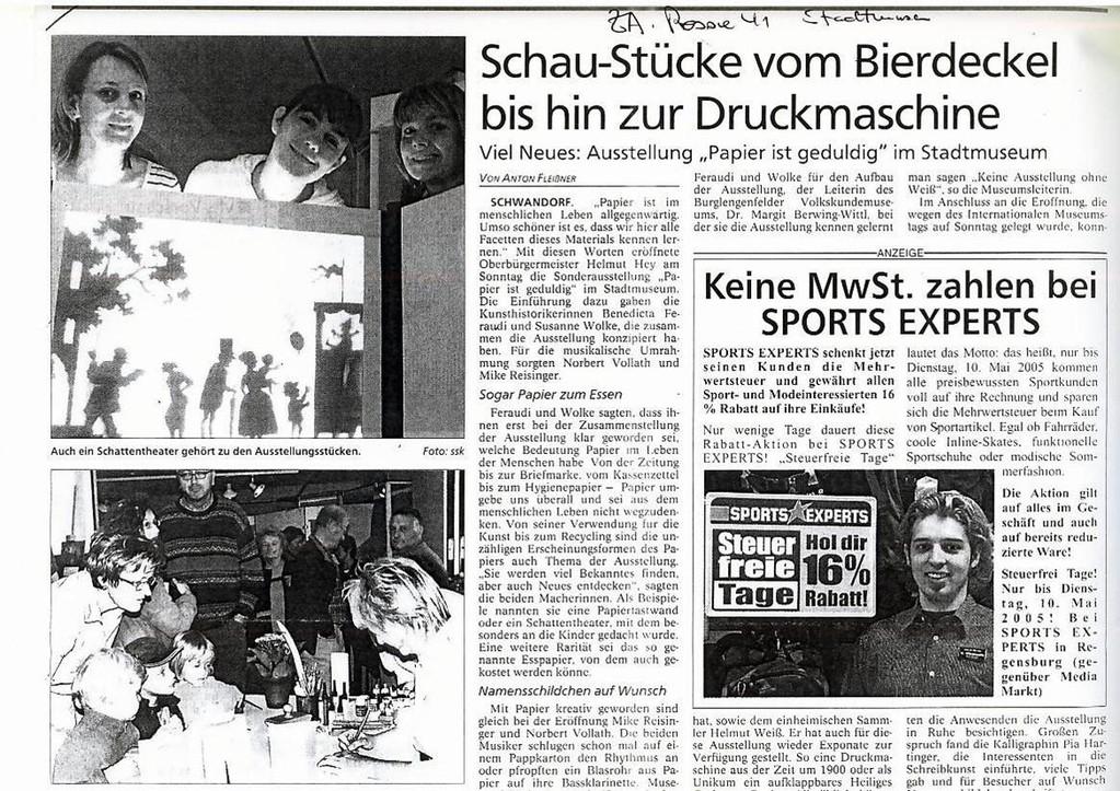 Mittelbayerische Zeitung, 10.05.2005