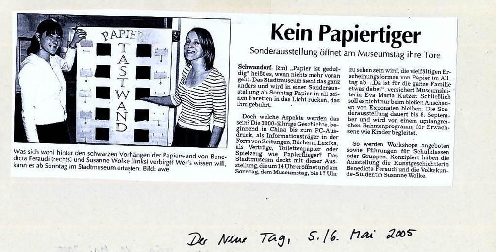 Der Neue Tag, 05.05.2005