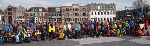 Gruppenbild in Amersfoort NL Ostern 2018