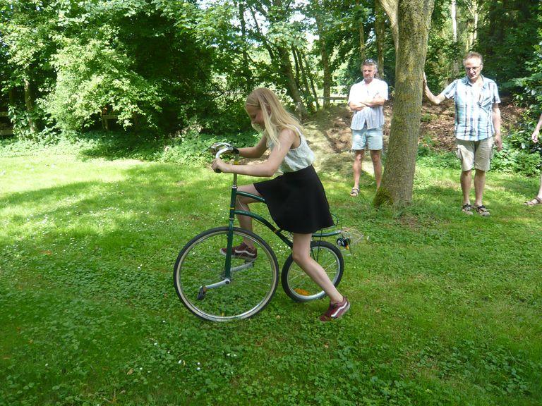 Eines der Spaßräder, die getestet werden wollen.