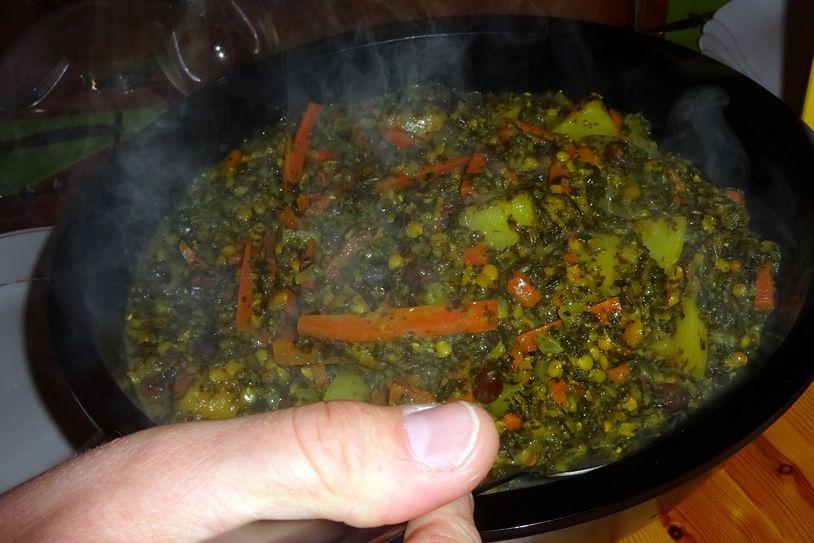 ... Grünkohl vegetarisch aufzutragen.
