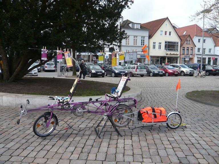 Der Stand der Liegeradgruppe Oldenburg, dieses Mal klein aber informativ.