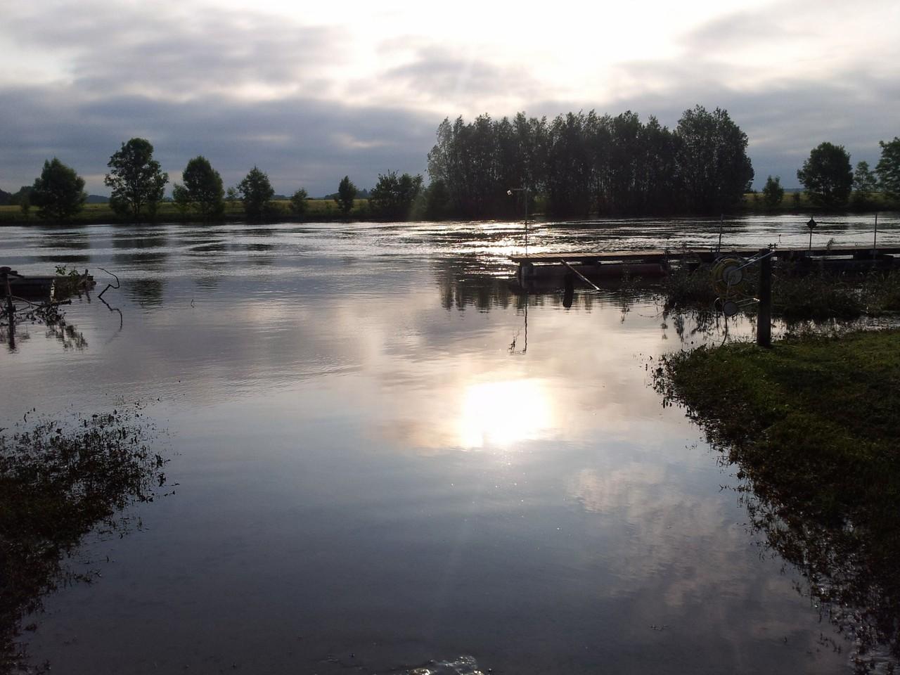 Hochwasser auch an der Weser