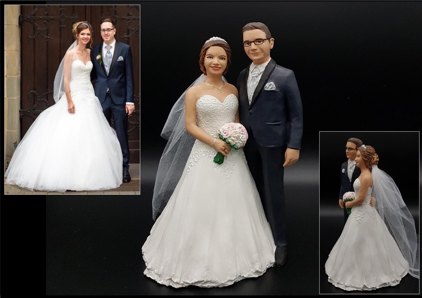 Persönliche Hochzeitsfiguren nach Fotos