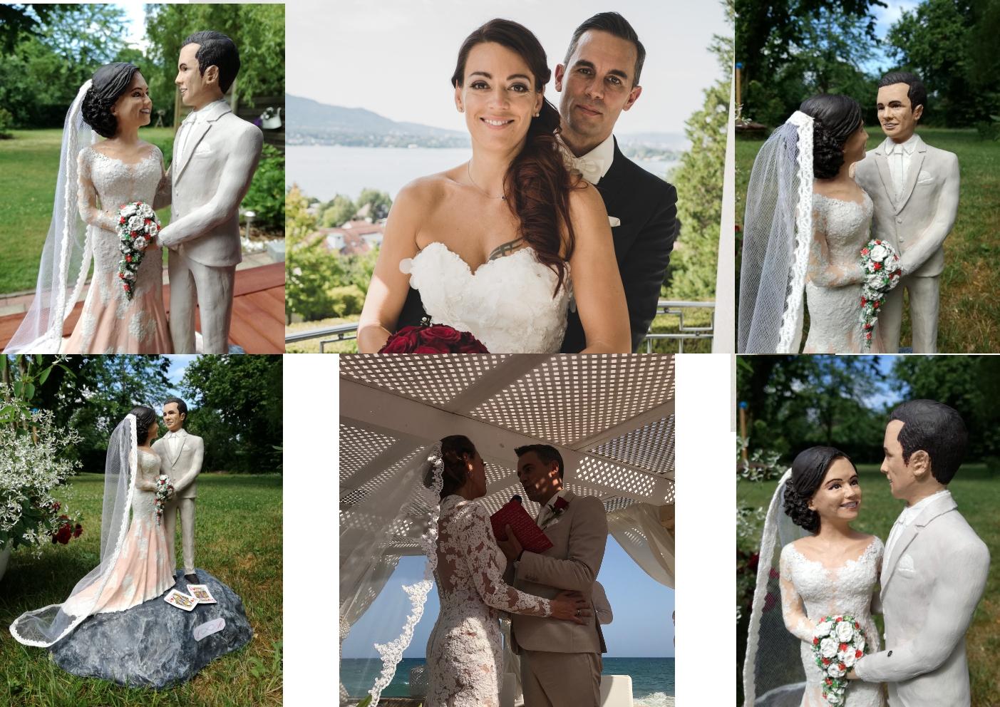 Einzigartige Hochzeitsfiguren nach Fotos