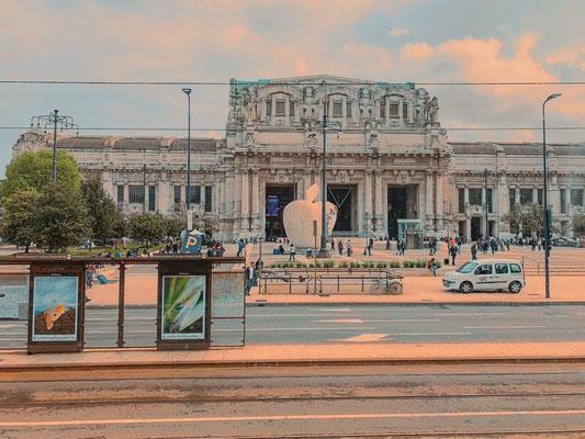 Italien Mailand Bahnhof