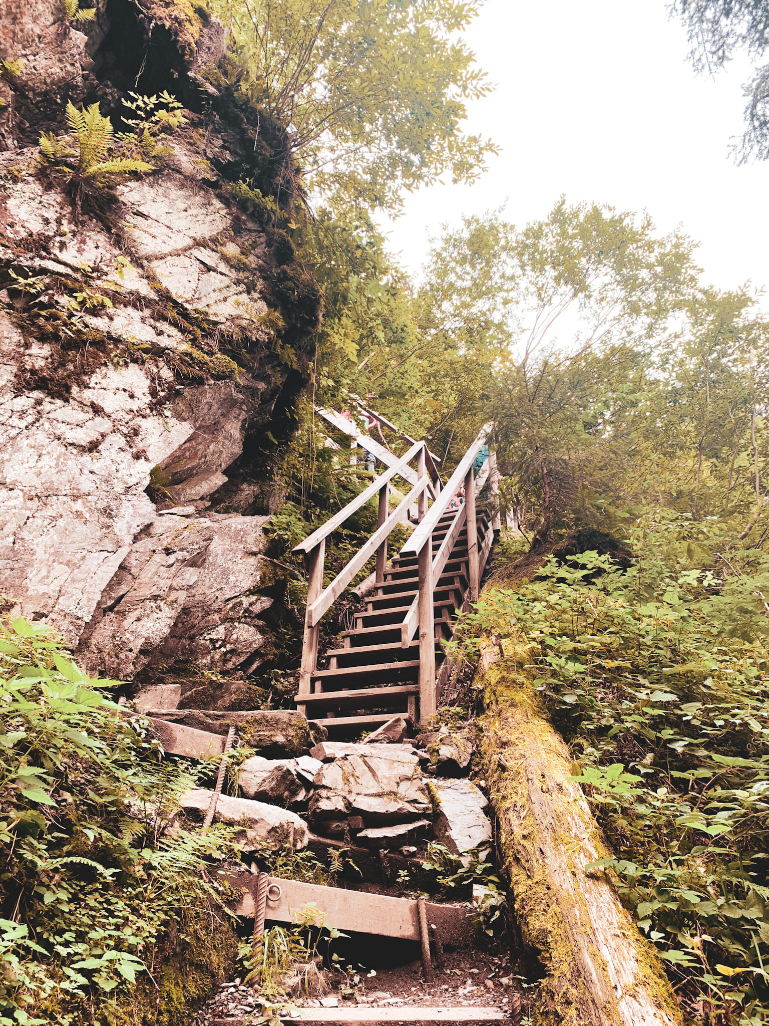 Wanderweg über Treppen