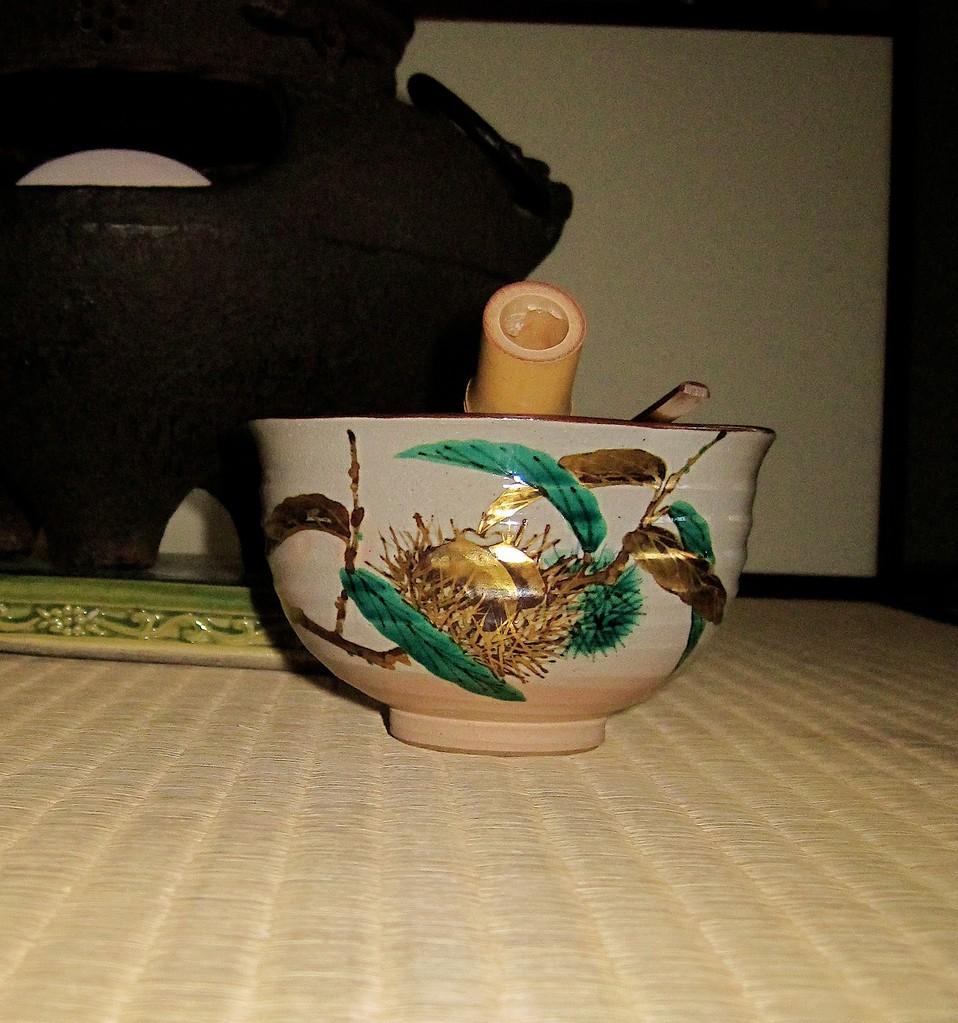 栗仁清茶碗