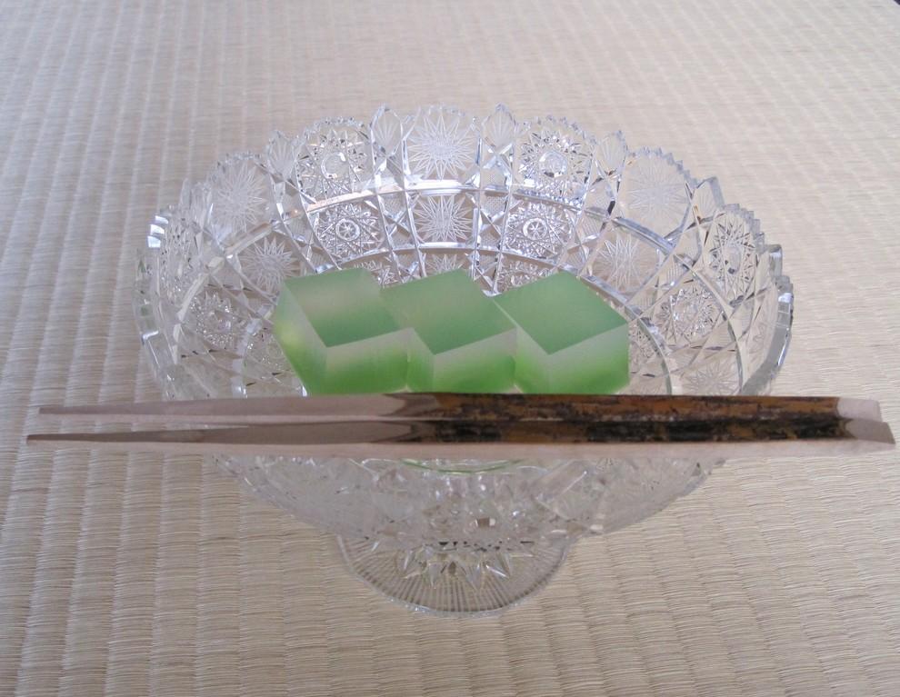 菓子 清流 源太製 菓子器チェコ製クリスタルガラス