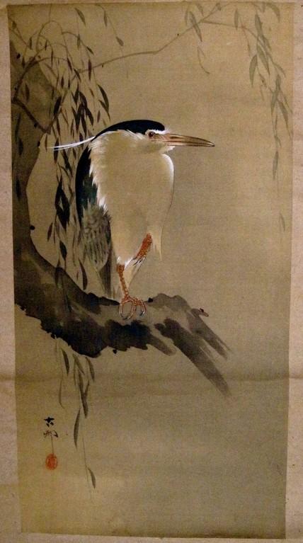 五位鷺  小原古邨(こそん)書1877~1945