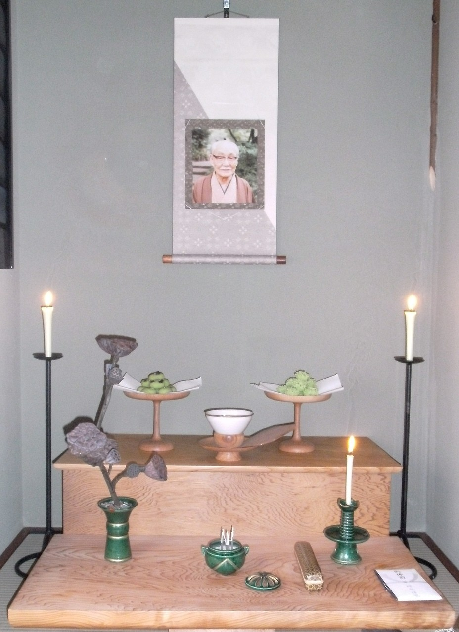 献茶献菓後、祭壇