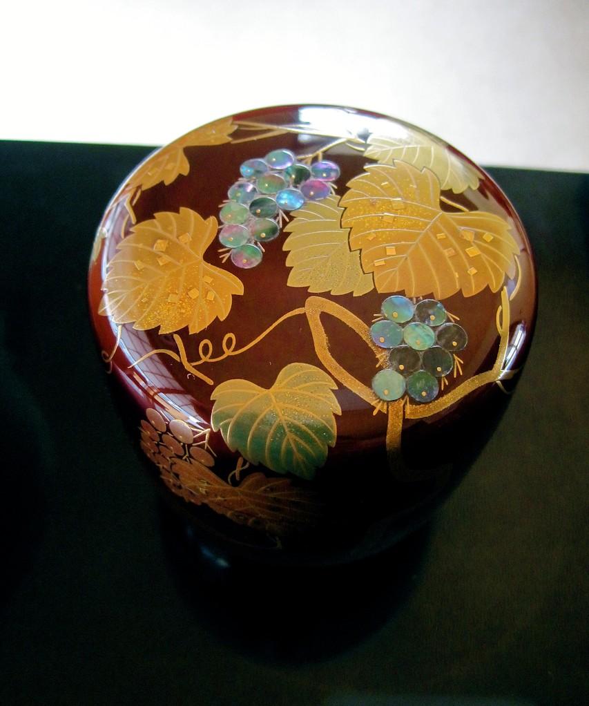 葡萄螺鈿棗