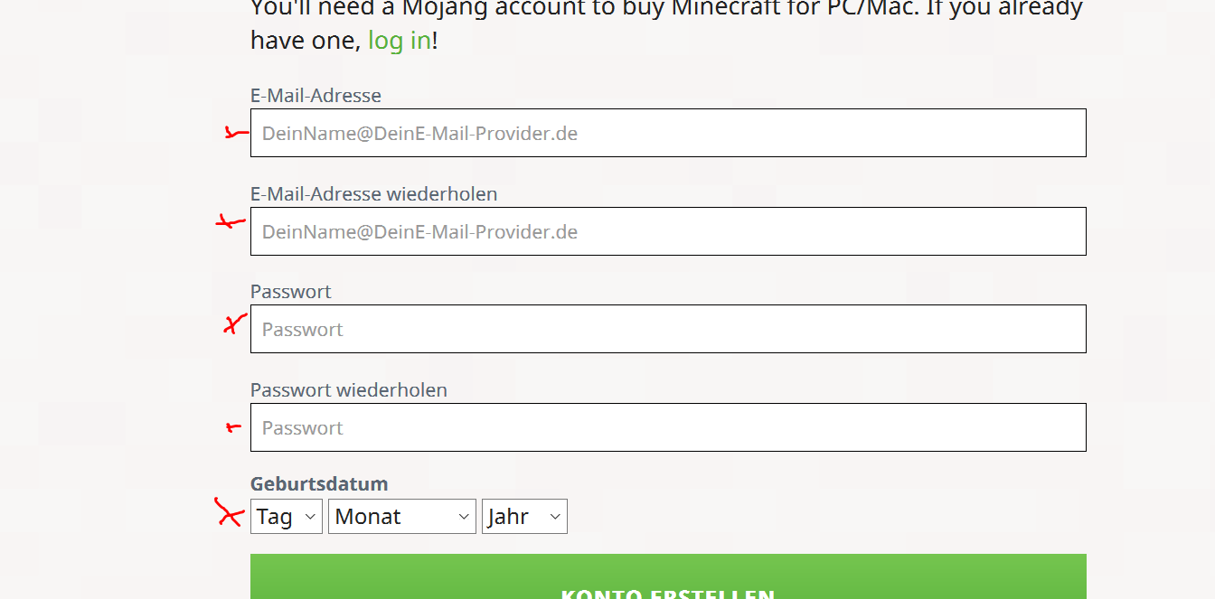 Minecraft Spielen Deutsch Mojang Com Minecraft Namen Ndern Bild - Mojang com minecraft namen andern