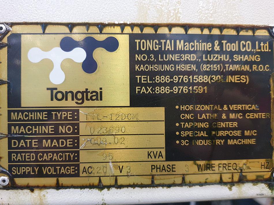 Karusseldrehmaschine Tongtai TVL-12DCM