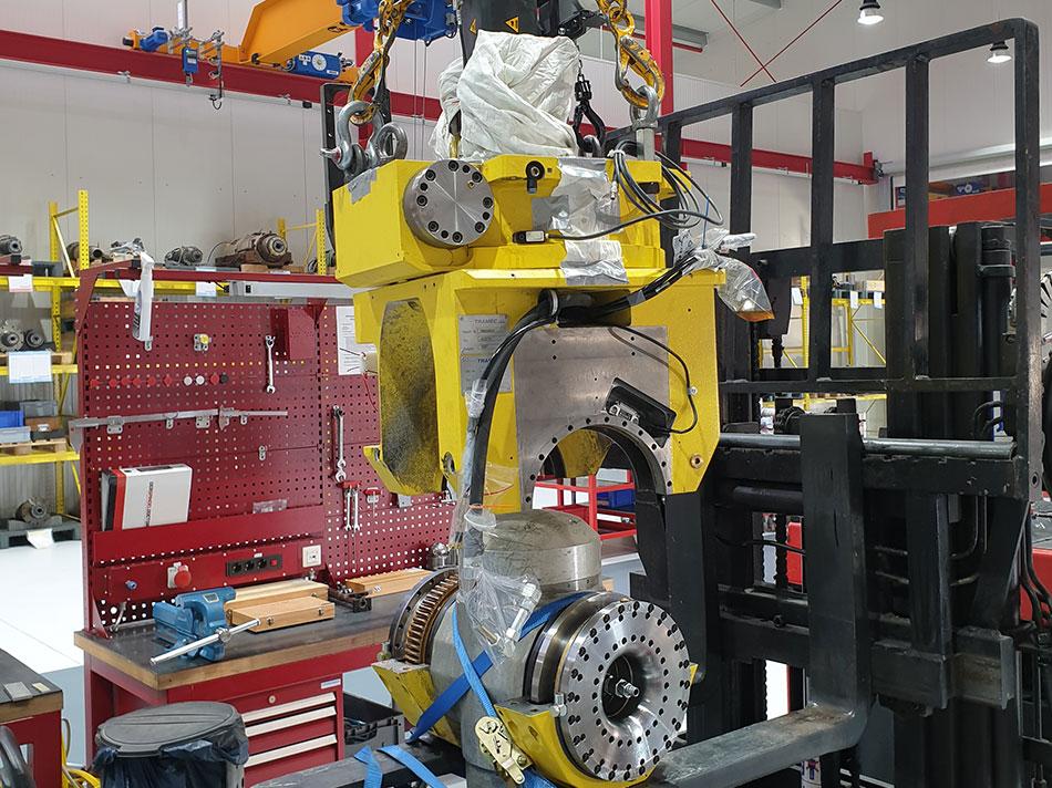 Portalfräsmaschine 2-Achsenkopf Tramec AC5TK