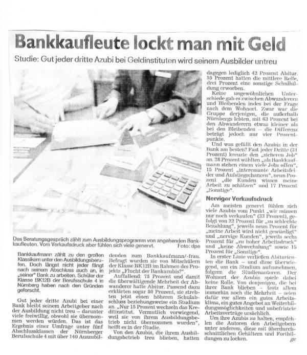 """Nürnberger Nachrichten, 01.02.2014, Beilage """"Azubi 2014/2015"""", S.11"""