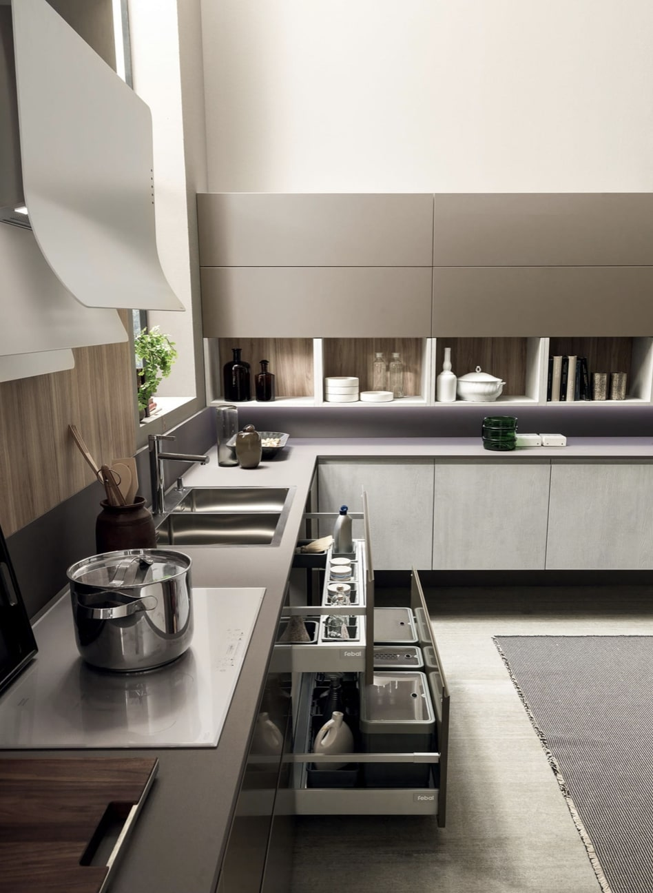 Cucina moderna Febal - modello Volumia