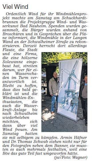 Kurstadtcocktail Wetterauer Zeitung, 10. Mai 2014