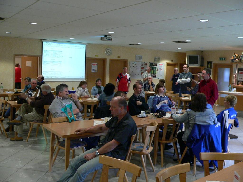 Zuschauer im Kegelzentrum