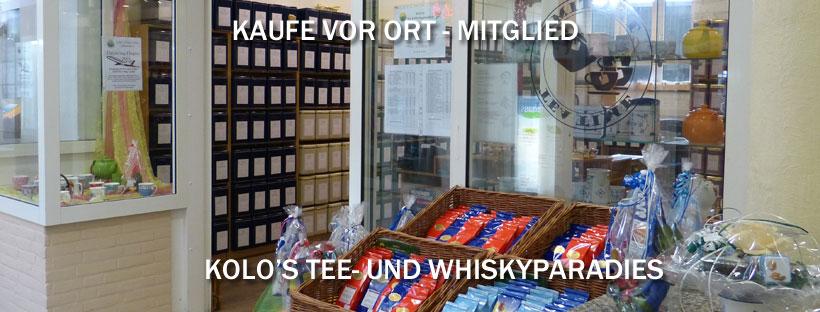 Kaufe-vor-Ort-Mitglied: Kolo's Tee& Whisky-Paradies