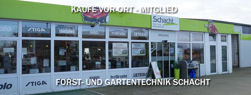 Kaufe-vor-Ort-Mitglied: Forst- und Gartentechnik Schacht