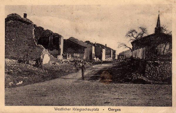 Cierges-sous-Montfaucon après les combats