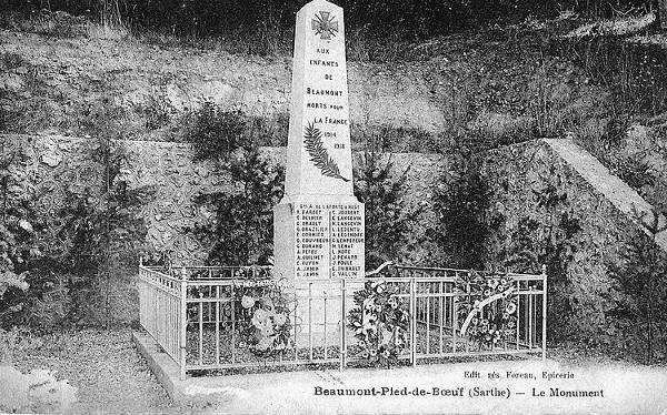 Monument aux morts de Beaumont-Pied-de-Bœuf