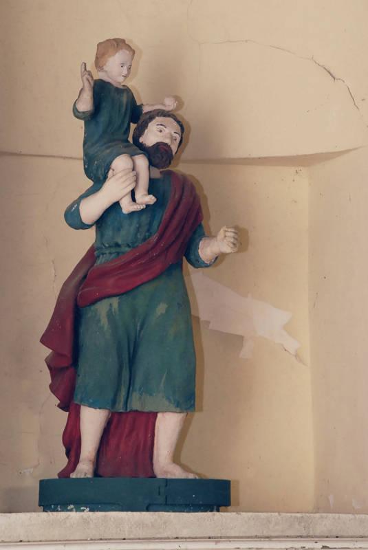Statue de Saint Christophe à Saint Gilles