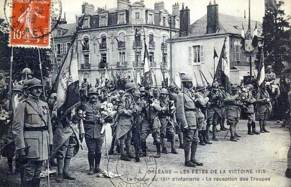 Le 131e Régiment d'Infanterie (retour à Orléans)