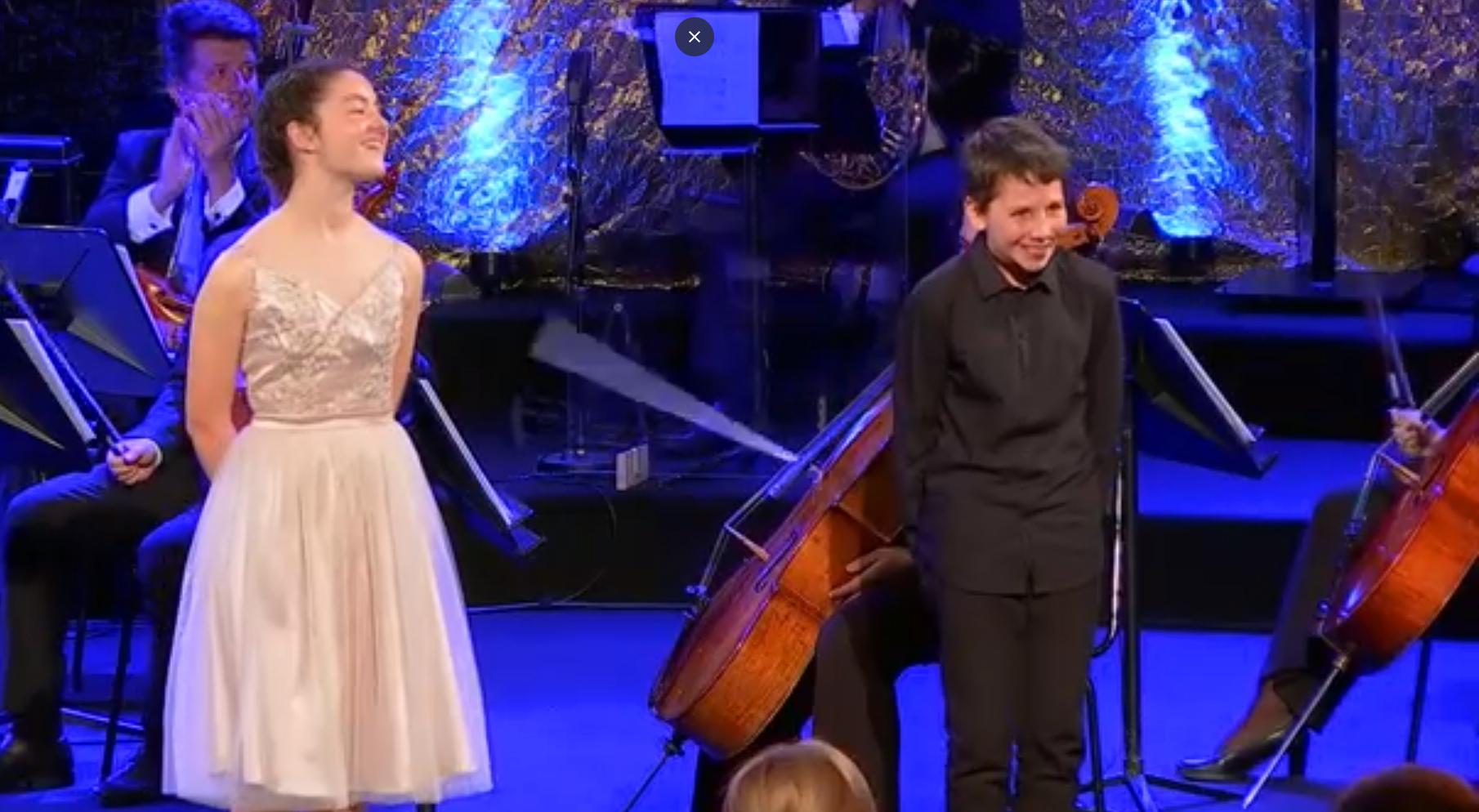 """Goldene Note"": Julia Dueñas & Emil Weller gewinnen! (c) Screenshot ORF"