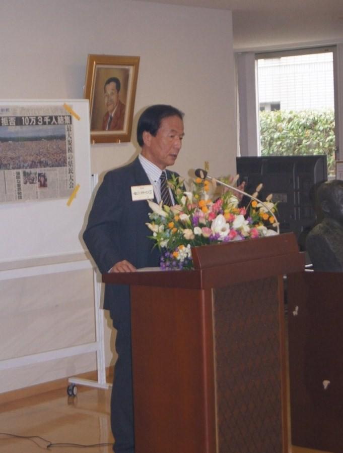 講演会 『パスポートを持って ―沖縄生活四十年余』 元琉球新報論説委員長 野里 洋 氏