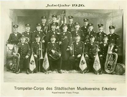 Trompeter-Corps des Städtischen Musikvereins Erkelenz 1926