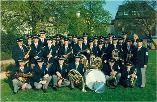 Städtischer Musikverein Erkelenz 1984 mit der 3. neuen Uniform