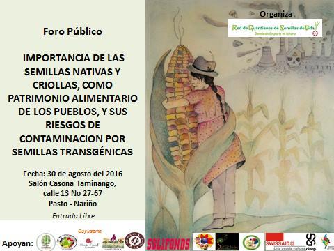 Foro Público- Nariño. 08/16