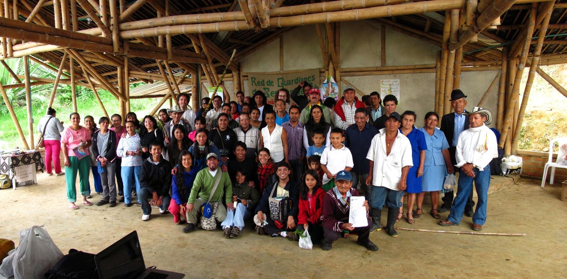 VI Encuentro de Guardianes de Semillas en San Lorenzo - Nariño. Sep/2011