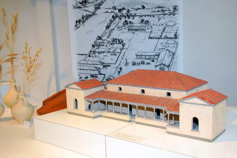 Modell einer villa rustica