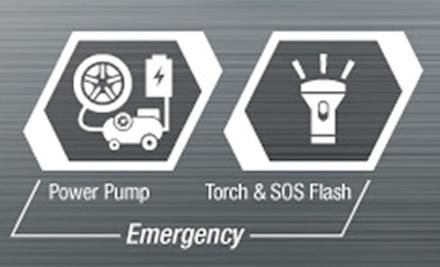 SOS-Signal und Taschenlampe