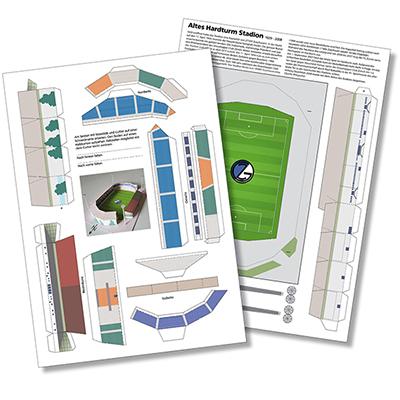 Bastelbogen des alten Hardturm Stadions