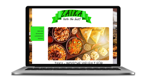 Zaika - Taste the best - poweredy by Giangrasso Webdesign aus Karlsruhe
