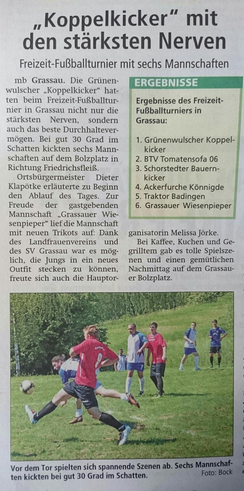 Altmark-Zeitung vom 11.06.2016, von Maik Bock