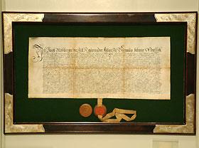 gesiegeltes Dokument aus Burgau